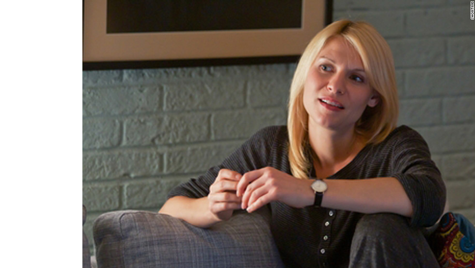 """Homeland,"" starring Claire Danes, dethroned ""Mad Men"" as the winner of Emmy's best drama award."