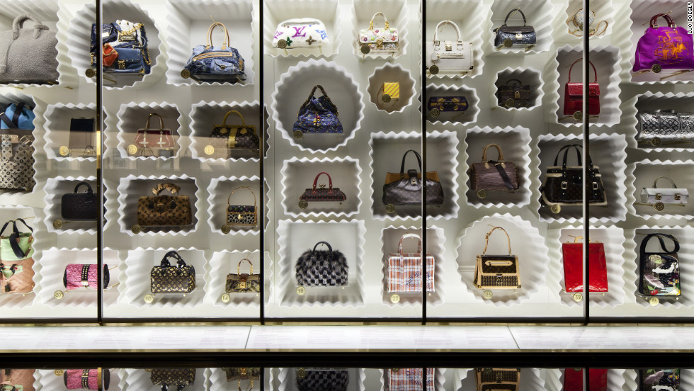 "Dozens of Marc Jacobs-designed Louis Vuitton bags were on display in the museum's ""Louis Vuitton Marc Jacobs"" exhibit, which covered two floors and told the fascinating stories of both design innovators' industry-changing careers."