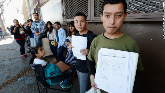 Young people in Los Angeles line up in August to apply for the Obama administration's deportation reprieve.