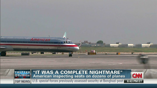 Flyer: Loose plane seats a 'nightmare'