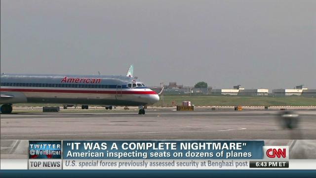 Flyer: Loose plane seats a 'nightmare'