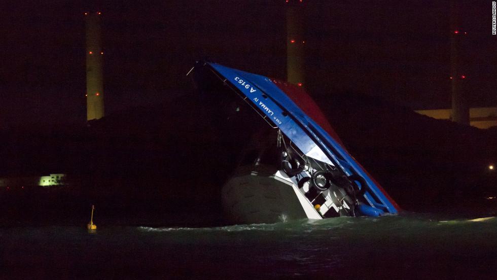 The crash sent dozens of passengers into the water.