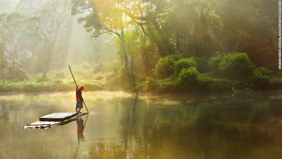 """Joint third prize went to Michael Theodric, 10, from Indonesia for """"Morning at Situ Gunung""""."""