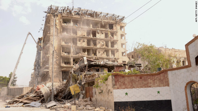 Embattled Syrian city shaken by blasts