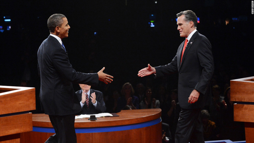 The candidates meet on stage less than five weeks before Election Day.
