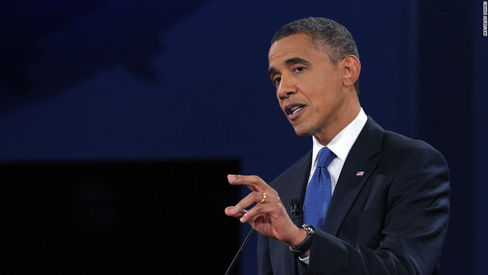 Obama argues his view. Both candidates said the other's proposals won't work.