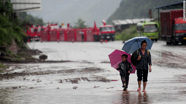 The landslide followed several days of rain in Yiliang county in southwest China's Yunnan province. The area was recently hit by series of mudlides and earthquakes.