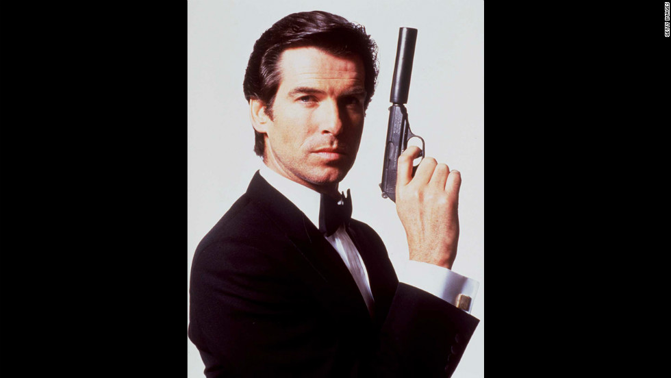 "Pierce Brosnan poses for a publicity shot for ""GoldenEye"" in 1995."