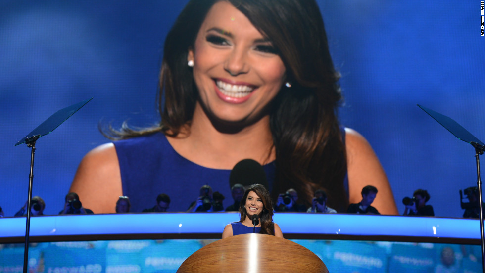 "<strong>October 2012:</strong> 2012 also <a href=""http://inamerica.blogs.cnn.com/2012/10/05/the-year-of-the-political-latino-celebrity-starring-eva-longoria/"">marked the year of the political Latino celebrity, starring Eva Longoria</a>. The actress' political profile was heightened in the election year, as she became a respected player not only in Hollywood, but also Washington, working with the Obama campaign.<br /><br />""My government and economics teacher gave us a project where we all had to volunteer during the election. We could choose whatever party, but we had to volunteer and help register people to vote. It was part of our grade,"" Longoria said. ""So I caught the political bug from there."""