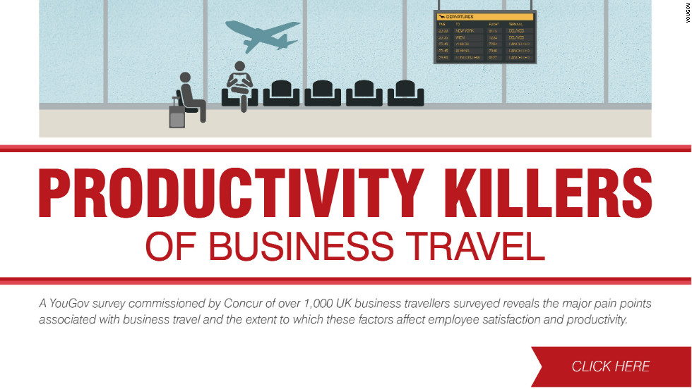 Traveling around the globe may help secure those big deals but on the flip side jet setting can seriously damage productivity.Created by Laura Miller and Ines Torre