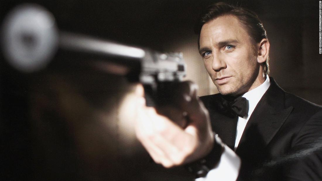 "Daniel Craig poses in 2005 after being unveiled as the next actor to play the legendary British secret agent James Bond for ""Casino Royale"" in October 2005."