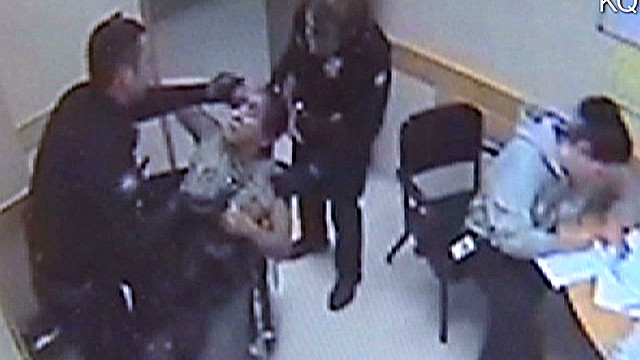 Video: Cop beats up man in detox center