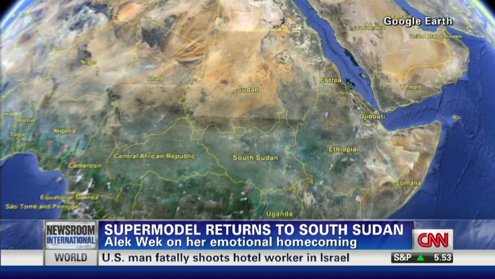 Supermodel returns to South Sudan