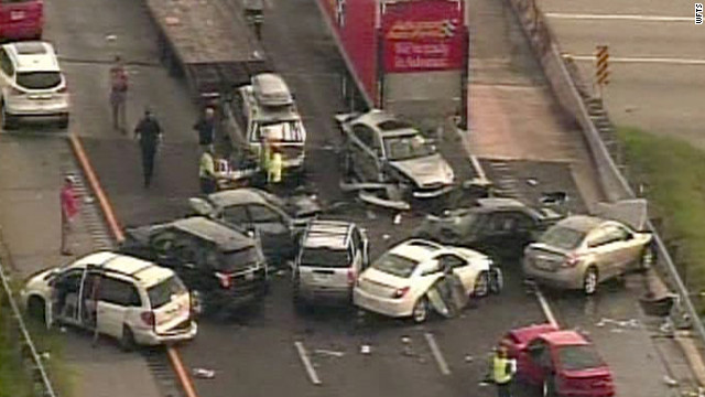 As many as 50 vehicles were involved in an accident on southbound I-75, the Sarasota County Sheriff's Office said.