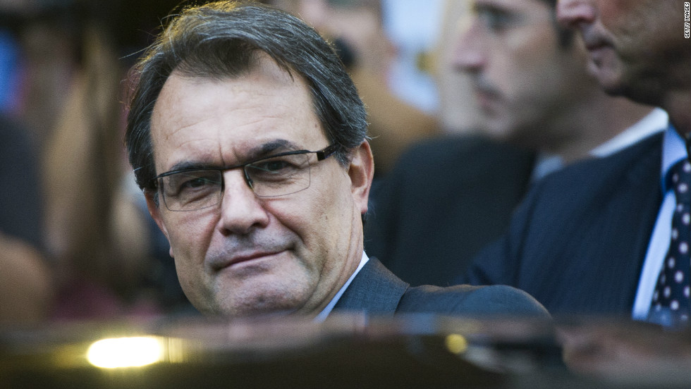 The president of semi-autonomous Catalonia is Artur Mas.He has been accused of using the debt crisis engulfing Spain as a way of garnering more support for the independence movement.