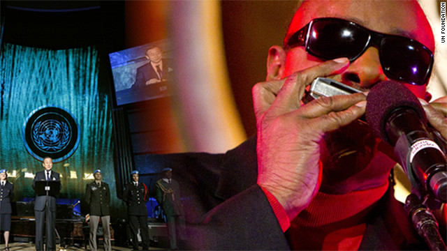 A trip to see Stevie Wonder play at the U.N. Day concert is one of the Global Good Challenge prizes.