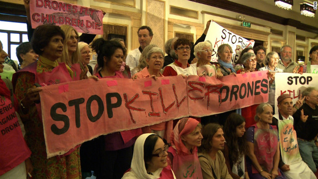 Code Pink, a rights group from the U.S. are in Islamabad to protest U.S. drone attacks in northern Pakistan.