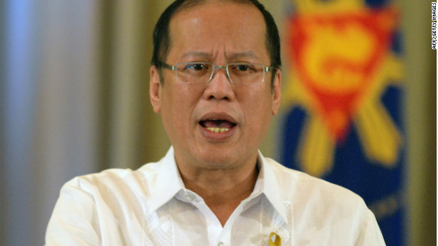Philippine President Benigno Aquino speaks during a press briefing in 2012.