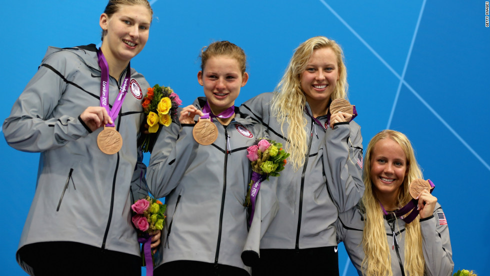 In addition to her individual success, Weggemann also won a bronze medal as part of the the American 4 x 100m medley relay 34 points.