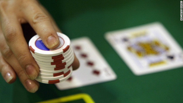 Gambling chips at a gaming table in Macau, 12 June 2007.