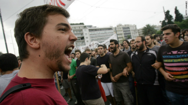 Greek protesters: Merkel not welcome