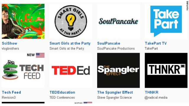 Technology and science feeds like SciShow, TED-Ed and Revision3's TechFeed are just some of YouTube's original channels.