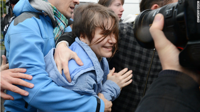 Pussy Riot band member freed in Russia