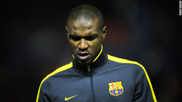 French defender Eric Abidal moved to Barcelona from Lyon in 2007.