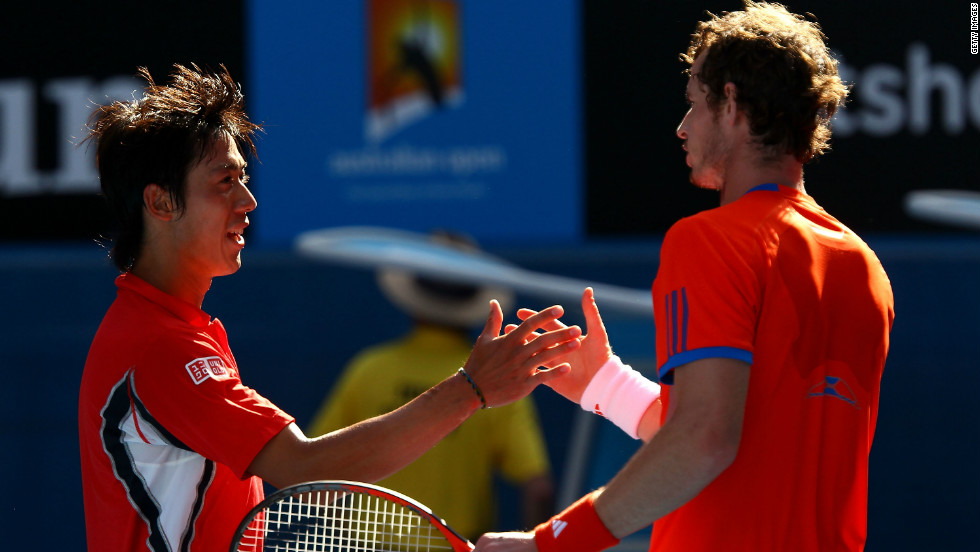 Nishikori became the first Japanese player to reach the Australian Open quarterfinals for 80 years in January 2012. His defeat to Andy Murray showcased the difference in size between the the 22-year-old and the quartet that currently dominate the men's game who are all over six foot.