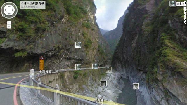 Taroko Gorge, in the Taroko National Park in Taiwan, was part of 250,000 miles added to Google's Street View in an update.