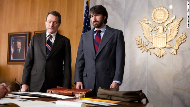 "Bryan Cranston and Ben Affleck star in ""Argo."""