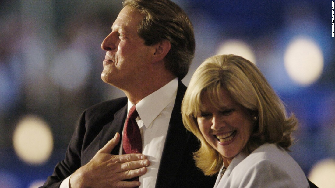 While most eyes focused on ballot problems in Florida after the Bush-Gore race in 2000, New Mexico had the closest results. The state gave a razor-thin edge to Al Gore, just 366 votes. Pictured, Gore and his wife, Tipper, attend the 2004 Democratic National Convention.