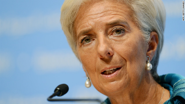 International Monetary Fund (IMF) managing director Christine Lagarde warns on a three-speed global economy.