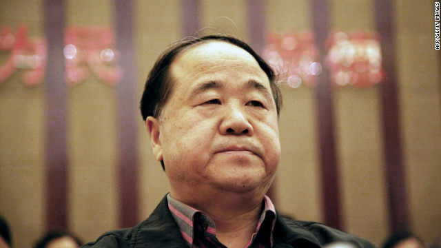 This picture taken on March 25, 2012, shows Chinese writer Mo Yan, the 2012 Nobel Literature Prize winner, attending a novel competition in Haikou, in south China's Hainan province. The Swedish Academy announced on October 11, 2012 that Chinese author Mo Yan won the Nobel Literature Prize 'with hallucinatory realism merges folk tales, history and the contemporary' . CHINA OUT AFP PHOTO (Photo credit should read STR/AFP/GettyImages)