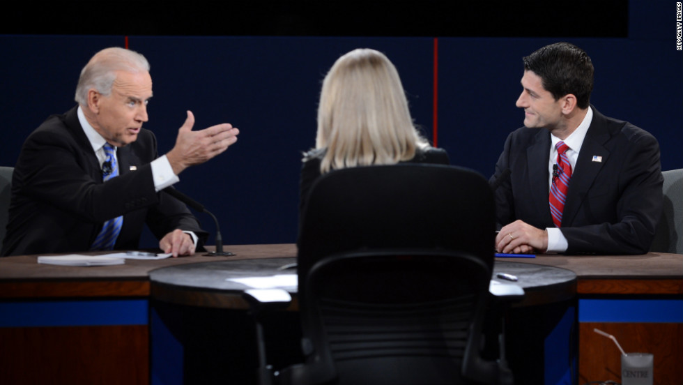 Vice President Biden and vice presidential candidate Paul Ryan face off.
