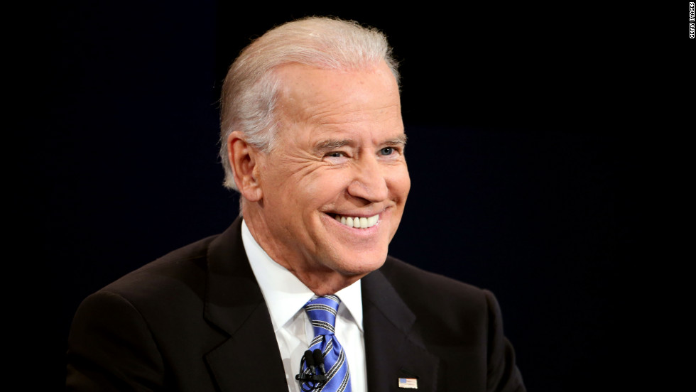 Vice President Biden smiles during the debate.