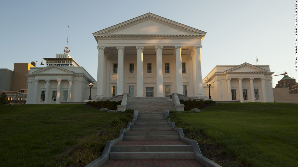 "In ""Lincoln,"" the Virginia State Capitol doesn't actually play itself. Director Steven Spielberg dressed it up as the national Capitol instead."