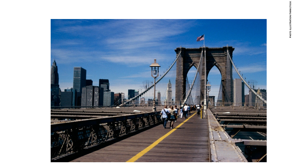 Walking across the Brooklyn Bridge in New York City is its own great hike, with its own great (city) views.