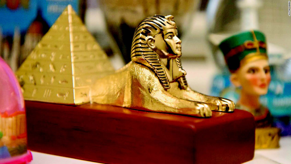 "A genuine Sphinxamid! Not even the pharaohs had one of these! -- Captions are from ""Crap Souvenirs"" author Doug Lansky."