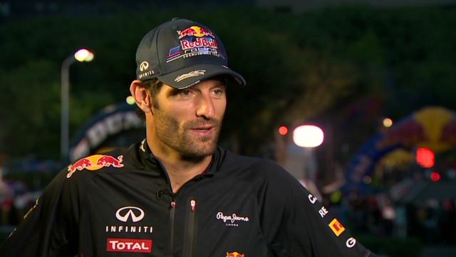 Mark Webber back in the go-kart