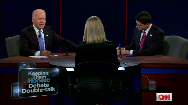 Vice-presidential debate double-talk
