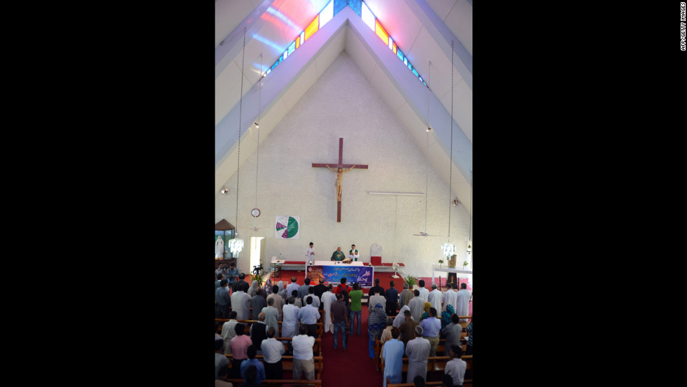 Pakistani Christians attend a mass prayer for the recovery of Malala at Fatima Church in Islamabad.