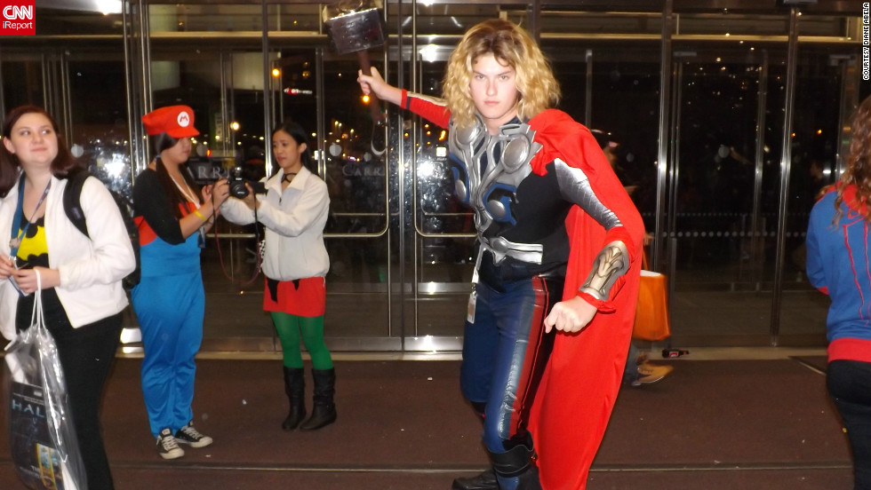 """The Avengers,"" the top-grossing movie of 2012 so far, was particularly popular for fans, as this man posing as Thor illustrates.<a href=""http://ireport.cnn.com/docs/DOC-857838"" target=""_blank"">Check out more photos on Diane Abela's iReport</a>."