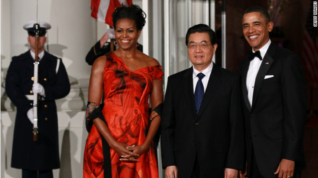 President Obama hosted China's then-president Hu Jintao for a state dinner in January 2011. According to the State Departement, Hu gave Obama a red and white porcelain vase.