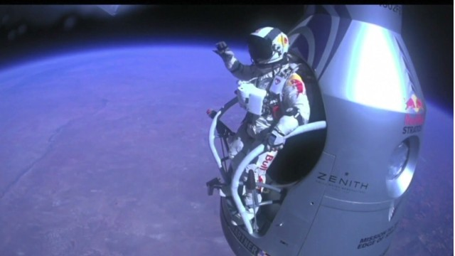 Felix Baumgartner's daring freefall from near space was a top trend on Google.