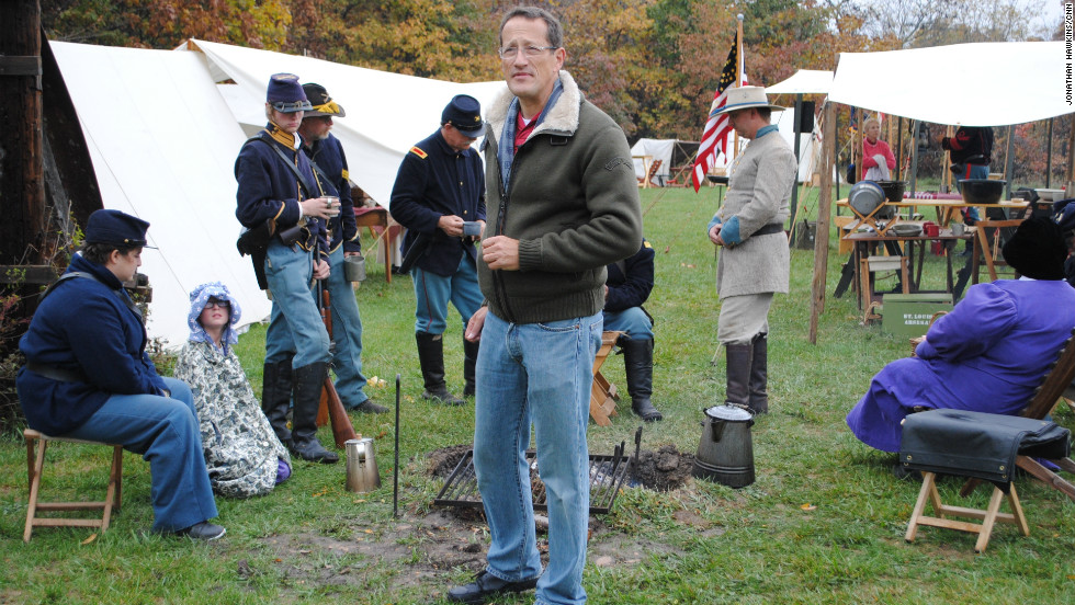 CNN's Richard Quest takes a time out from battle in the Union camp