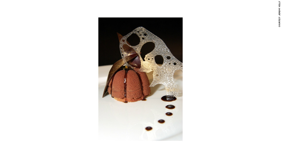 "One of Kelly's signature dishes, a chocolate sponge with Garnier Marnier. ""The standards are incredibly high. If you're just a cook, it's not going cut it,"" said  Efrem Leigh, recruitment consultant at Yachtchefs.com."