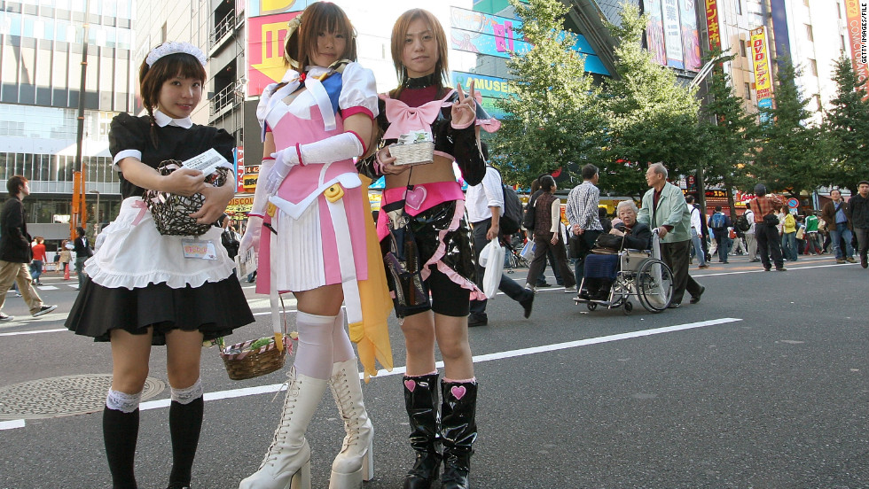 Walk down the street in Tokyo's Akihabara district and you may spot people dressed like it's the 22nd century, decked out as future retro sci-fi steam punks. And also maids.