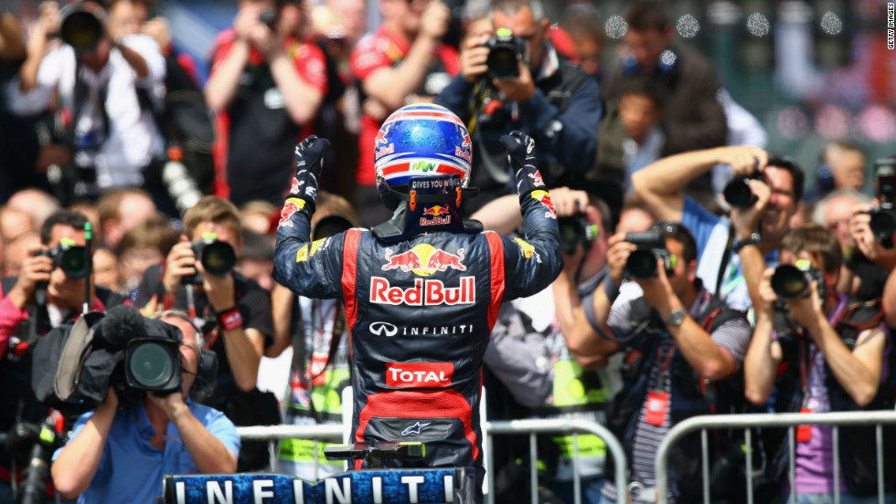Two days after his second win of the season at Silverstone in the British Grand Prix, Webber penned a new deal with Red Bull Racing, extending his contract with the team to the end of the 2013 season.