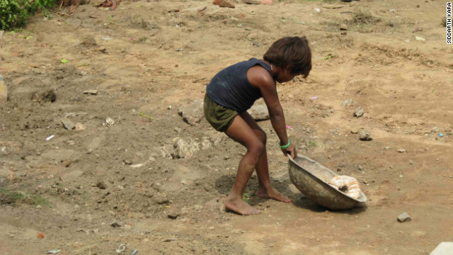 Children working in India's construction industry and associated sectors such as stone-making -- can endure brutal conditions.